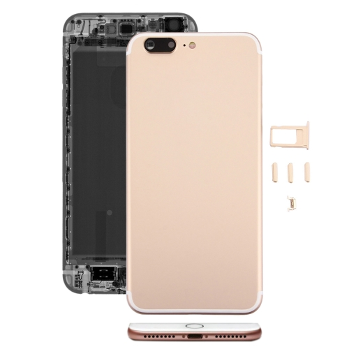 Buy iPartsBuy 5 in 1 Full Assembly Metal Housing Cover with Appearance Imitation of iPhone 7 for iPhone 6s Plus, Including Back Cover (Big Camera Hole) & Card Tray & Volume Control Key & Power Button & Mute Switch Vibrator Key, No Headphone Jack, Gold for $21.34 in SUNSKY store