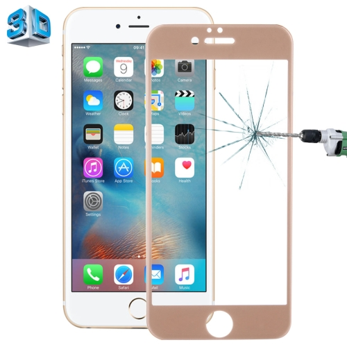 Buy 0.26mm 9H Surface Hardness 3D Explosion-proof Tempered Glass Screen Film for iPhone 6 Plus & 6s Plus, Gold for $3.19 in SUNSKY store
