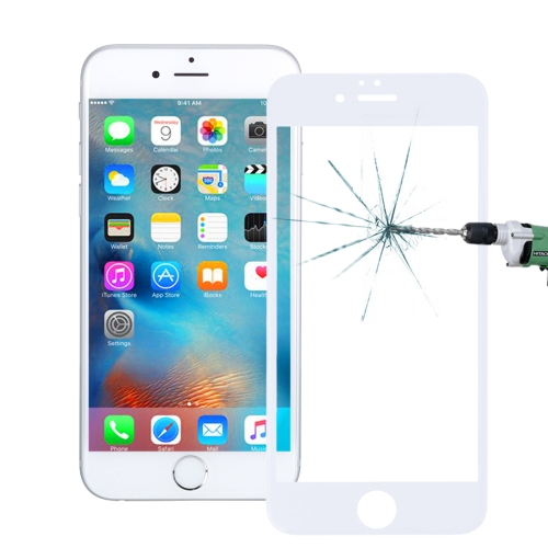 Buy 0.26mm 9H Surface Hardness 3D Explosion-proof Tempered Glass Screen Film for iPhone 6 Plus & 6s Plus, White for $3.18 in SUNSKY store