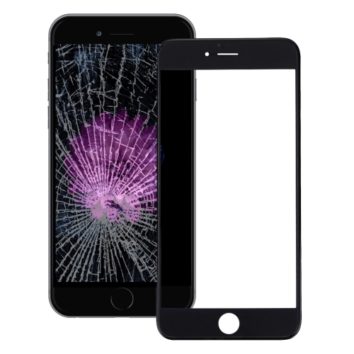 Front Screen Outer Glass Lens with Front LCD Screen Bezel Frame & OCA Optically Clear Adhesive for iPhone 6s Plus(Black)