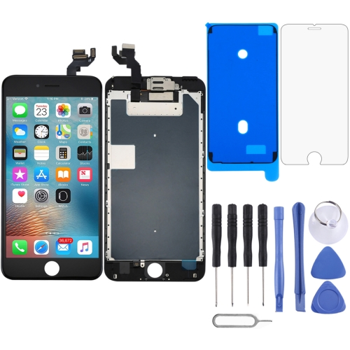 LCD Screen and Digitizer Full Assembly with Front Camera for iPhone 6s Plus(Black)