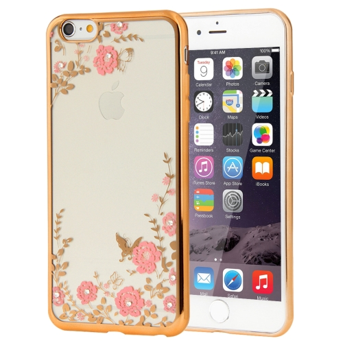 Buy For iPhone 6 Plus & 6s Plus Flowers Patterns Electroplating Soft TPU Protective Cover Case for $1.17 in SUNSKY store