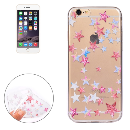Buy For iPhone 6 Plus Colorful Stars Pattern Soft TPU Protective Case for $1.10 in SUNSKY store