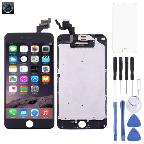 LCD Screen and Digitizer Full Assembly with Front Camera for iPhone 6 Plus(Black)