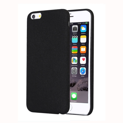 For iPhone 6 Plus & 6s Plus Ultra Fiber TPU Protective Back Case, Black