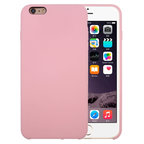 Buy For iPhone 6 Plus & 6s Plus Pure Color Liquid Silicone + PC Protective Back Cover Case, Pink for $3.42 in SUNSKY store