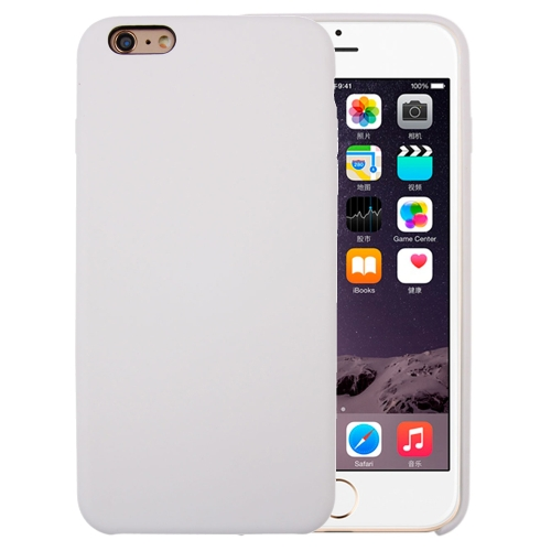 For iPhone 6 Plus & 6s Plus Pure Color Liquid Silicone + PC Protective Back Cover Case(White)