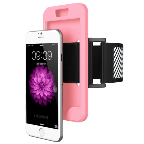 Buy 2 in 1 for iPhone 6 Plus & 6s Plus Dual Control Sport Armband with Detachable Premium Silicone Case, Pink for $2.43 in SUNSKY store