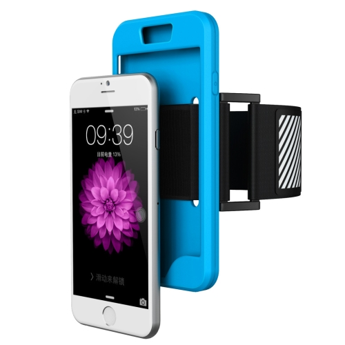 Buy 2 in 1 for iPhone 6 Plus & 6s Plus Dual Control Sport Armband with Detachable Premium Silicone Case, Blue for $2.43 in SUNSKY store