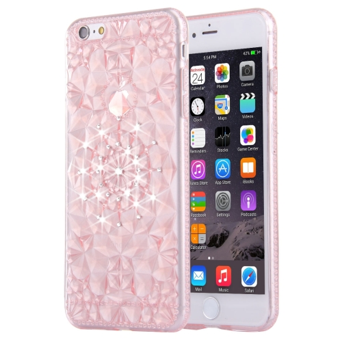 Buy For iPhone 6 Plus & 6s Plus Diamond Encrusted Soft TPU Protective Case Back Cover, Pink for $1.00 in SUNSKY store