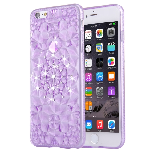 Buy For iPhone 6 Plus & 6s Plus Diamond Encrusted Soft TPU Protective Case Back Cover, Purple for $1.00 in SUNSKY store