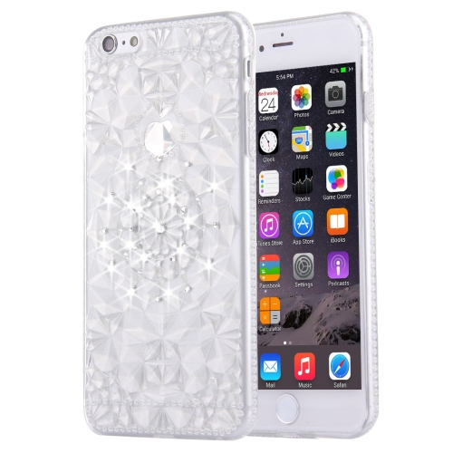 Buy For iPhone 6 Plus & 6s Plus Diamond Encrusted Soft TPU Protective Case Back Cover, Silver for $1.00 in SUNSKY store