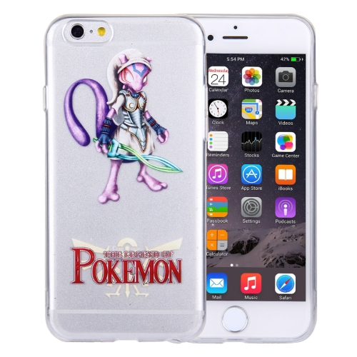 Buy For iPhone 6 Plus & 6s Plus THE LEGEND OF POKEMON Mewtwo Cartoon Pattern Transparent Soft TPU Protective Cover Case for $1.21 in SUNSKY store