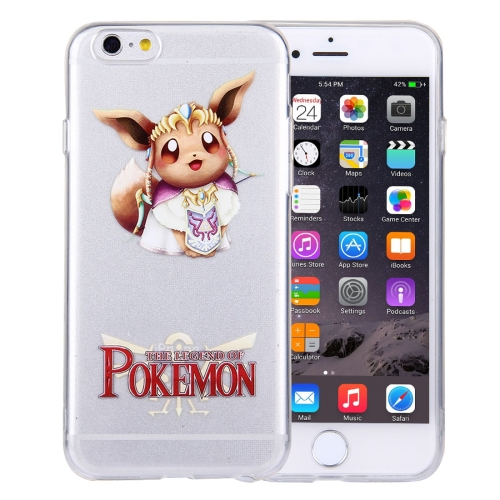 Buy For iPhone 6 Plus & 6s Plus THE LEGEND OF POKEMON Eevee Cartoon Pattern Transparent Soft TPU Protective Cover Case for $1.21 in SUNSKY store