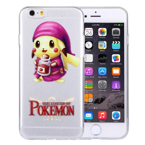 Buy For iPhone 6 Plus & 6s Plus THE LEGEND OF POKEMON Pikachu Cartoon Pattern Transparent Soft TPU Protective Cover Case for $1.21 in SUNSKY store