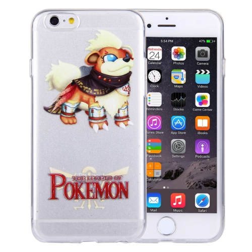 Buy For iPhone 6 Plus & 6s Plus THE LEGEND OF POKEMON Growlithe Cartoon Pattern Transparent Soft TPU Protective Cover Case for $1.21 in SUNSKY store