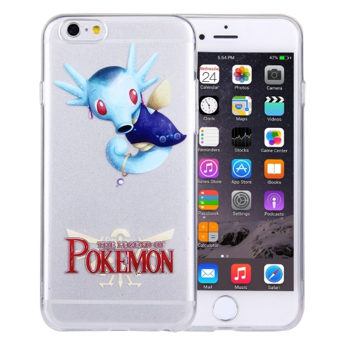 Buy For iPhone 6 Plus & 6s Plus THE LEGEND OF POKEMON Horsea Cartoon Pattern Transparent Soft TPU Protective Cover Case for $1.21 in SUNSKY store