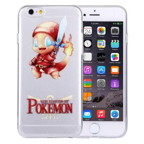 Buy For iPhone 6 Plus & 6s Plus THE LEGEND OF POKEMON Cartoon Pattern Transparent Soft TPU Protective Cover Case for $1.21 in SUNSKY store