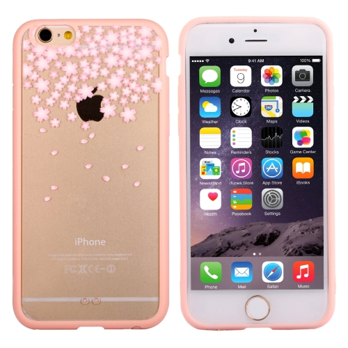 Buy For iPhone 6 Plus & 6s Plus Cherry Blossom Flower Pattern Transparent Plastic Protective Case for $1.21 in SUNSKY store