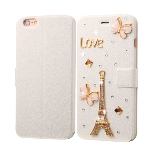 Buy Fevelove for iPhone 6 Plus & 6s Plus Diamond Encrusted Tower Pattern Horizontal Flip Leather Case with Magnetic Buckle & Card Slots for $3.24 in SUNSKY store