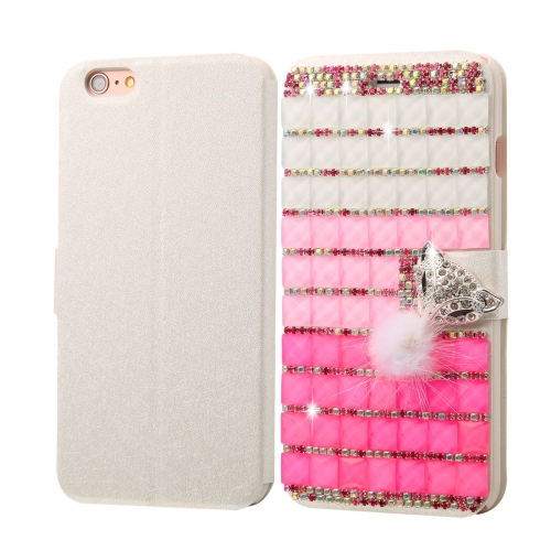 Buy Fevelove for iPhone 6 Plus & 6s Plus Diamond Encrusted Jewel Fox Pattern Horizontal Flip Leather Case with Magnetic Buckle & Card Slots for $4.80 in SUNSKY store
