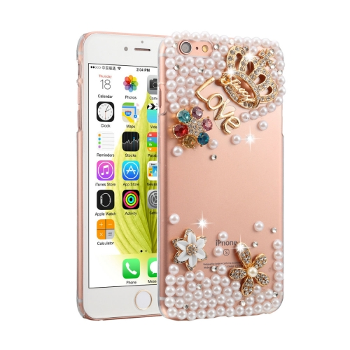 Buy Fevelove for iPhone 6 Plus & 6s Plus Diamond Encrusted Bling Crown Pattern PC Protective Case Back Cover for $3.23 in SUNSKY store