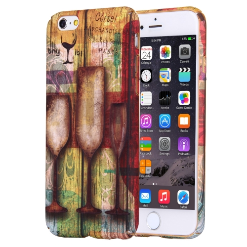 Buy For iPhone 6 Plus & 6s Plus Water Decals Retro Style Pattern PC Protective Case for $2.97 in SUNSKY store