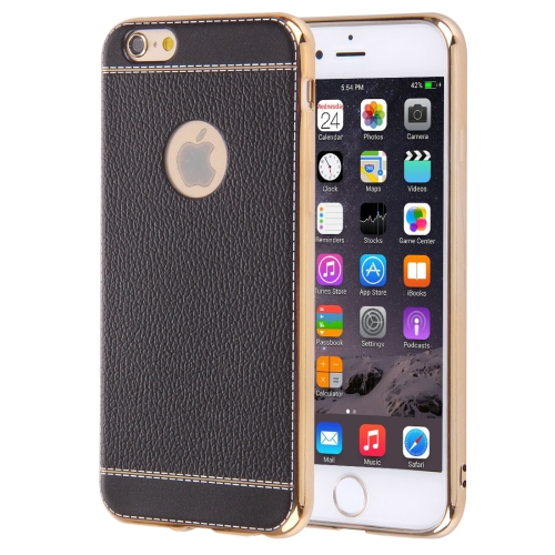 Buy For iPhone 6 Plus & 6s Plus 3D Litchi Texture Soft TPU Protective Case, Black for $1.49 in SUNSKY store