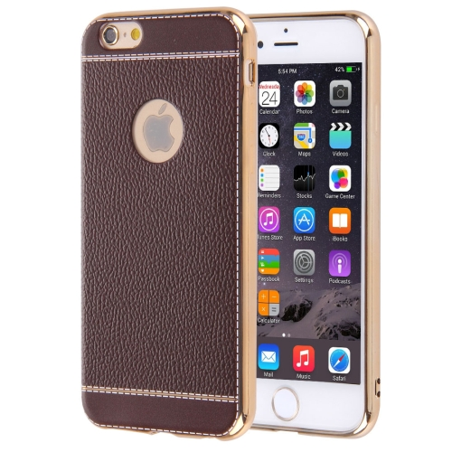 Buy For iPhone 6 Plus & 6s Plus 3D Litchi Texture Soft TPU Protective Case, Coffee for $1.49 in SUNSKY store