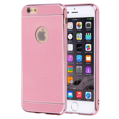 Buy For iPhone 6 Plus & 6s Plus 3D Litchi Texture Soft TPU Protective Case, Pink for $1.49 in SUNSKY store