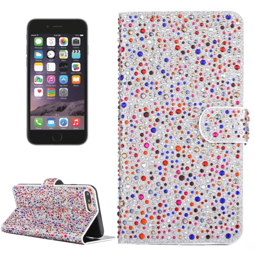 Buy For iPhone 6 Plus & 6s Plus Raindrops Pattern Horizontal Flip Leather Case with Holder & Card Slots, Colorful (Dark Red) for $3.76 in SUNSKY store