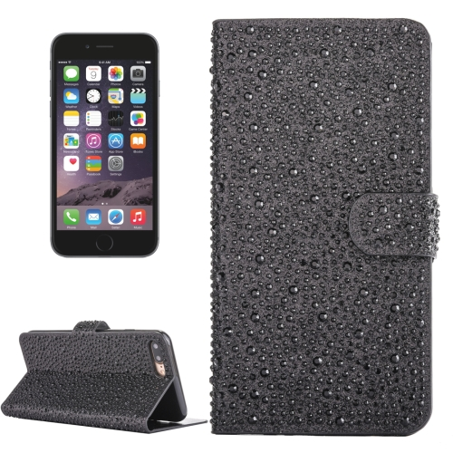 Buy For iPhone 6 Plus & 6s Plus Raindrops Pattern Horizontal Flip Leather Case with Holder & Card Slots, Black for $3.94 in SUNSKY store