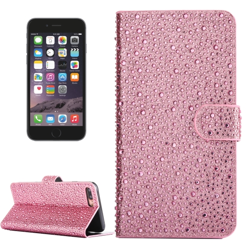 Buy For iPhone 6 Plus & 6s Plus Raindrops Pattern Horizontal Flip Leather Case with Holder & Card Slots, Pink for $3.94 in SUNSKY store