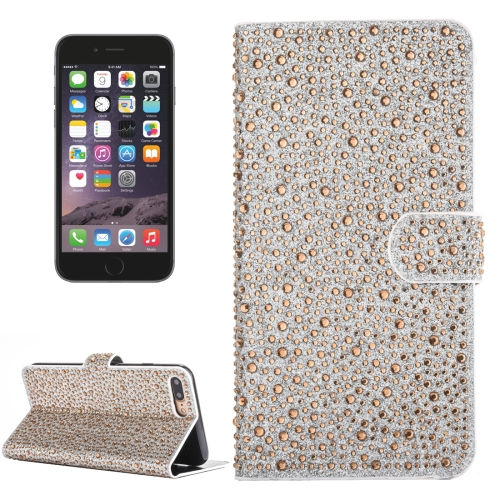 Buy For iPhone 6 Plus & 6s Plus Raindrops Pattern Horizontal Flip Leather Case with Holder & Card Slots, Gold for $3.84 in SUNSKY store
