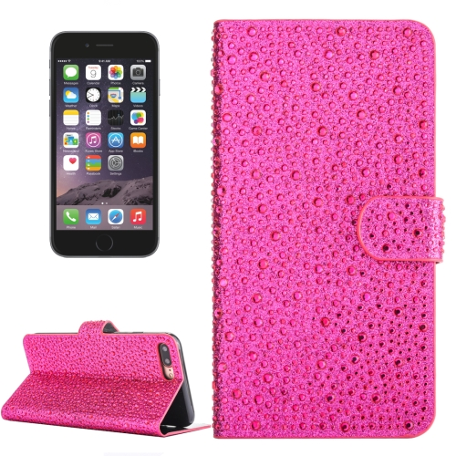 Buy For iPhone 6 Plus & 6s Plus Raindrops Pattern Horizontal Flip Leather Case with Holder & Card Slots, Magenta for $3.76 in SUNSKY store