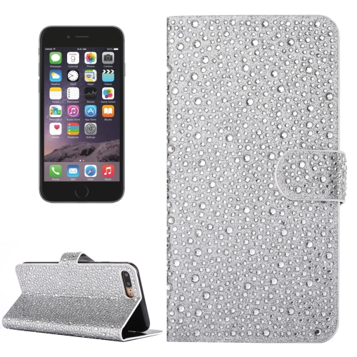 Buy For iPhone 6 Plus & 6s Plus Raindrops Pattern Horizontal Flip Leather Case with Holder & Card Slots, Silver for $3.93 in SUNSKY store