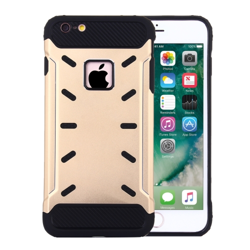 Buy For iPhone 6 Plus & 6s Plus Shock-Resistant Iron Man Aluminum Alloy + TPU Combination Case, Gold for $2.28 in SUNSKY store