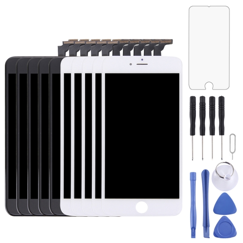 5 PCS Black + 5 PCS White LCD Screen and Digitizer Full Assembly with Frame for iPhone 6 Plus