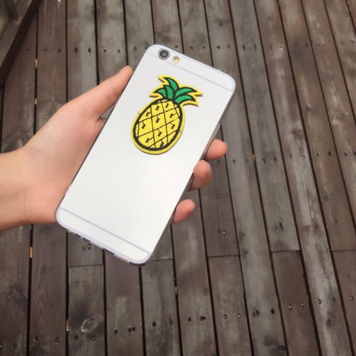 Buy For iPhone 6 Plus & 6s Plus Mirror Embroidery Pineapple Pattern Protective Back Cover Case for $2.66 in SUNSKY store