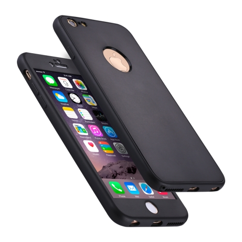 Buy For iPhone 6 Plus & 6s Plus Stylish Lightweight 360 Degree Shockproof Detachable TPU + PC Combination Protective Case, Black for $2.02 in SUNSKY store