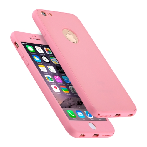 Buy For iPhone 6 Plus & 6s Plus Stylish Lightweight 360 Degree Shockproof Detachable TPU + PC Combination Protective Case, Pink for $2.02 in SUNSKY store