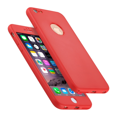 Buy For iPhone 6 Plus & 6s Plus Stylish Lightweight 360 Degree Shockproof Detachable TPU + PC Combination Protective Case, Red for $2.02 in SUNSKY store