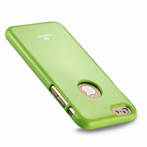 MERCURY GOOSPERY JELLY CASE for iPhone 6 Plus & 6s Plus TPU Glitter Powder Drop-proof Protective Back Cover Case (Green)
