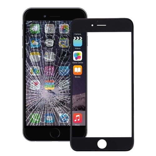 Front Screen Outer Glass Lens with Front LCD Screen Bezel Frame & OCA Optically Clear Adhesive for iPhone 6 Plus(Black)