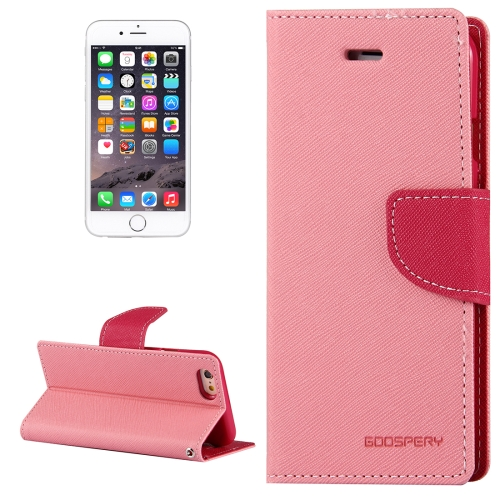 Buy MERCURY GOOSPERY FANCY DIARY for iPhone 6 Plus & 6s Plus Cross Texture Horizontal Flip Leather Case with Card Slots & Wallet & Holder, Pink for $3.91 in SUNSKY store
