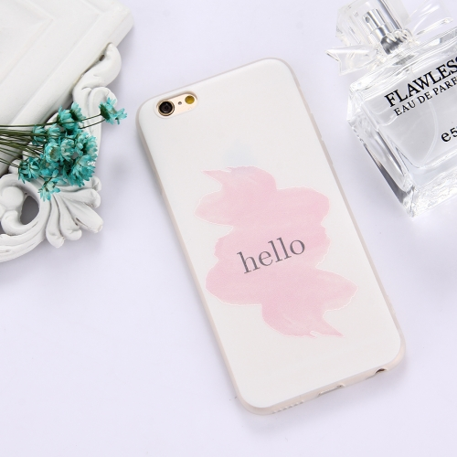 Buy For iPhone 6 Plus & 6s Plus TPU Frosted Embossed Hello Word Pattern Pattern Protective Case Back Cover for $1.49 in SUNSKY store