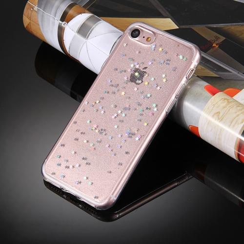 Buy For iPhone 6 Plus & 6s Plus Transparent Stars Glitter Powder Soft TPU Protective Case for $1.28 in SUNSKY store