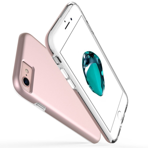 Buy For iPhone 6 Plus & 6s Plus PC + TPU Chrome Plated Press Button Protective Back Cover Case (Rose Gold) for $2.66 in SUNSKY store