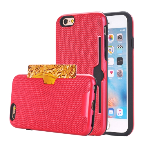 Buy For iPhone 6 Plus & 6s Plus Dream Network Dropproof Protective Back Cover Case with Card Slots, Red for $2.17 in SUNSKY store