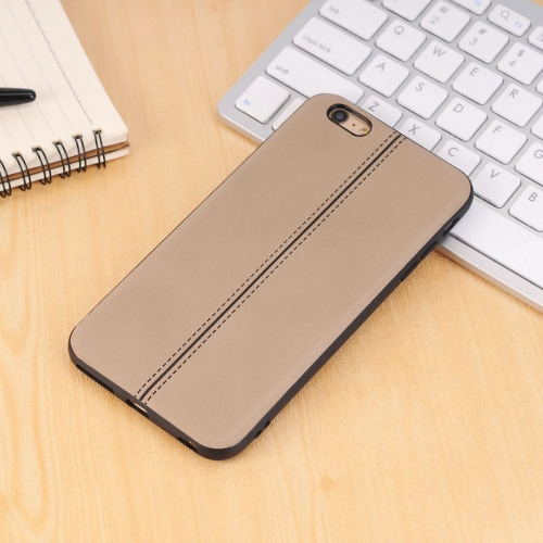 Buy For iPhone 6 Plus & 6s Plus Plain Weave Texture Leather Surface Protective Back Cover Case, Brown for $2.15 in SUNSKY store